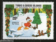 Turks & Caicos Island 1984 Christmas Donald Duck Cartoon Animation Film Cinema MNH