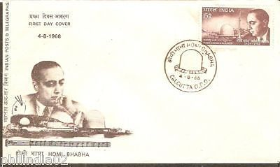 India 1966 Homi Bhabha Atomic Scientist Phila-433 FDC