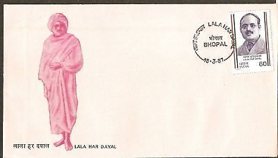 India 1987 Lala Har Dayal Phila-1064 FDC