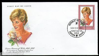 Palau 1997 Princess Diana Commemoration Rose Sc 470 FDC # 6337