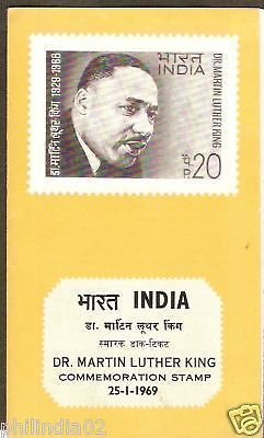 India 1969 Dr. Martin Luther King Phila-482 Cancelled Folder