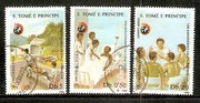 St. Thomas & Prince Is 1988 Int´al Red Cross 3v Cancelled
