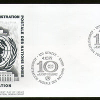United Nations - Geneva 1979 United Nations Postal Adm. 10th Anniv. FDC # 120 - Phil India Stamps