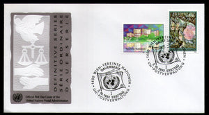 United Nations - Vienna 1992 Intl. Center Paintings Flag Scale Hand FDC # 134 - Phil India Stamps