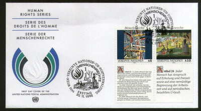 United Nations - Vienna 1992 Human Rights Paintings With Diff. Labels FDC # 136 - Phil India Stamps