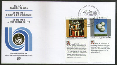 United Nations - Geneva 1993 Human Rights Paintings Picasso With Labels FDC # 138 - Phil India Stamps