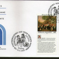 United Nations - Vienna 1993 Human Rights Paintings With Diff. Labels FDC #142 - Phil India Stamps