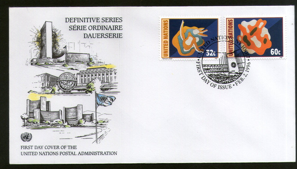 United Nations - New York 1996 WFUNA Mural Art Painting FDC # 156 - Phil India Stamps