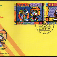United Nations - New York 1999 Education Keystone to the 21st Century FDC # 168 - Phil India Stamps