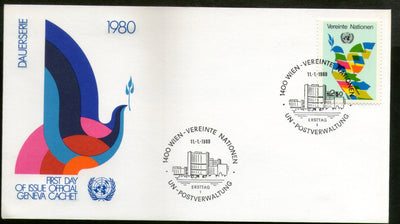 United Nations - Vienna 1980 Int'al Economic Order Symbolic Flag Bird FDC # 16 - Phil India Stamps