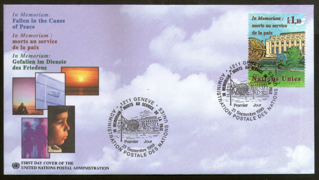 United Nations - Geneva 1999 In Memoriam Fallen in Cause of Peace FDC # 172 - Phil India Stamps