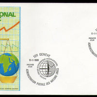 United Nations - Geneva 1980 New Int'al Economic Order Graph Key Scale FDC # 18 - Phil India Stamps