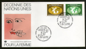 United Nations - Vienna 1980 UN Decade for Women Womens Year Emblem Map FDC # 24 - Phil India Stamps