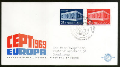 Netherlands 1969 Europa Sc 475-76 FDC # 253 - Phil India Stamps