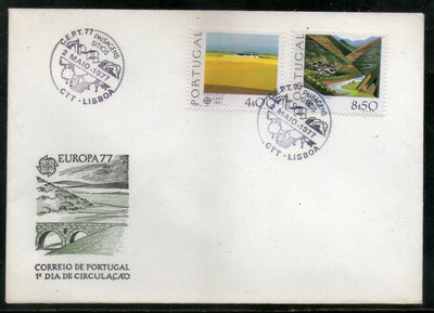 Netherlands 1977 Northern Mountain Valley Plains Landscape Sc 1332-33 FDC # 260 - Phil India Stamps