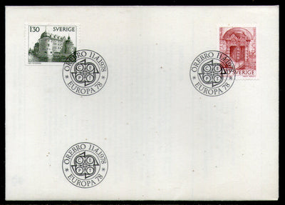 Swden 1978 Europa Arch & Stairs Castle Architecture Building Sc 1235-6 FDC # 264 - Phil India Stamps