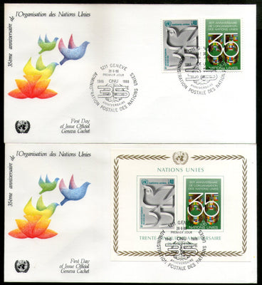 United Nations - Geneva 1980 UN Peace-keeping Operations Dove M/s+2v FDC # 276 - Phil India Stamps