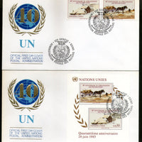 United Nations - Geneva 1985 Oil Paintings by Wyeth Art Sc 447-8 M/s+2v FDC #281 - Phil India Stamps