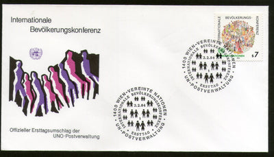 United Nations - Vienna 1984 International Population Conference Hands FDC # 41 - Phil India Stamps