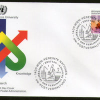 United Nations - Vienna 1985 UN University Rural Scene Scientist FDC # 43 - Phil India Stamps