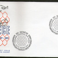 United Nations - Geneva 1972 Economic Commission for Europe Emblem FDC # 76 - Phil India Stamps