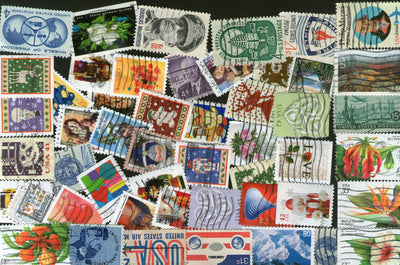 USA 50 Different Used Stamps on Flower Flora Scinence Animal Medal Love - Phil India Stamps