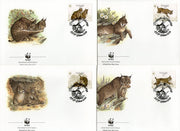 Portugal 1988 WWF Lynx Big Cats Sc 1716-19 Wildlife Animal Mammal Fauna FDCs # 60 - Phil India Stamps