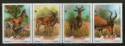 Mozambique 1991 WWF Lichtenstein's Hartebeest Antelope Deer Wildlife Sc 1145 MNH # 108 - Phil India Stamps