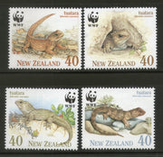 New Zealand 1991 WWF Tuatara Lizerd Reptiles Wildlife Fauna Sc 1023-26 MNH # 110 - Phil India Stamps