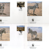 Namibia 1991 WWF - Mountain Zebra Wildlife Animal Fauna Sc 694-97 4 FDCs # 111 - Phil India Stamps