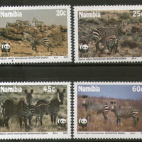 Namibia 1991 WWF Mountain Zebra Wildlife Animal Fauna Sc 694-97 MNH # 111 - Phil India Stamps