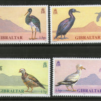 Gibraltar 1991 WWF Stork Vulture Shag Barbary Birds Wildlife Sc 591-94 MNH # 112 - Phil India Stamps