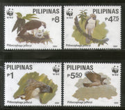 Philippines 1991 WWF Eagle Birds of Prey Wildlife Fauna Sc 2094-97 MNH # 115 - Phil India Stamps