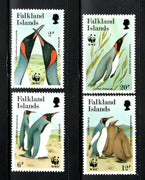 Falkland Islands 1991 WWF King Penguin Flightless Birds Fauna Sc 535-38 MNH # 117 - Phil India Stamps