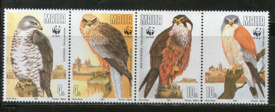 Malta 1991 WWF Migratory Eagle Birds of Prey Wildlife Fauna Sc 779-83 MNH # 119 - Phil India Stamps