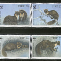 Ireland 1992 WWF European Pine Marten Wildlife Animal Fauna Sc 868-71 MNH # 130 - Phil India Stamps