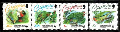 Cayman Islands 1993 WWF Grand Parrot Birds Fauna Wildlife Animal Sc 668-71 MNH # 151 - Phil India Stamps