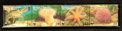 Alderney 1993 WWF Seashore Life Star Fish Lobster Marine Life Sc 69 MNH # 152 - Phil India Stamps