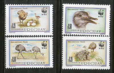 Uruguay 1993 WWF Greater Rhea Flightless Birds Egg Wildlife Animals MNH # 156 - Phil India Stamps