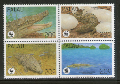 Palau 1994 WWF Estuarine Crocodile Reptiles Wildlife Animal Sc 323 MNH # 159 - Phil India Stamps