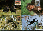 Sierra Leone 1983 WWF Chimpanzees Monkey Wildlife Animal Sc 786-89 4 Max Cards # 01 - Phil India Stamps