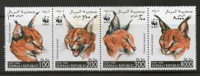 Somalia 1998 WWF Caracal Big Cat Wildlife Animals Fauna Se Tenant MNH # 243