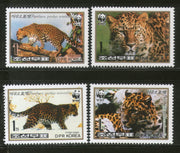 Korea 1998 WWF Amur Leopard Big Cat Wildlife Animals Fauna Sc 3784-87 MNH # 245