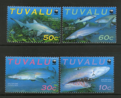 Tuvalu 2000 WWF Sand Tiger Shark Marine Life Animal MNH # 266