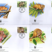 Solomon Islands 2002 WWF Grey Cuscus Wildlife Animal Sc 927-30 Set of 4 FDCs # 302 - Phil India Stamps