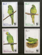 Mauritius 2003 WWF Parakeet Parrot Birds Wildlife Animals Sc 966-69 MNH # 323