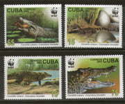 Cuba 2003 WWF Crocodile Reptiles Animal Wildlife Fauna Sc 4342-45 MNH # 327