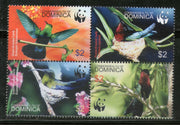 Dominica 2005 WWF Caribbean Birds Wildlife Animals Fauna Sc 2520 MNH # 361