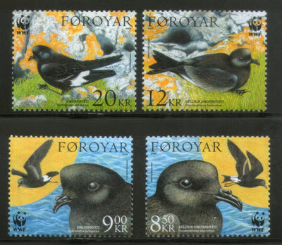 Faroe Islands 2005 WWF Petrels Birds Wildlife Animals Fauna Sc 458-61 MNH # 365