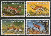 Senegal 1986 WWF Dama Gazelle Antelope Deer Sc 677-80 Wildlife Animal Fauna MNH # 036 - Phil India Stamps